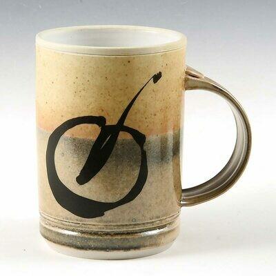 Mug - Porcelain Mugs with Brush Stroke