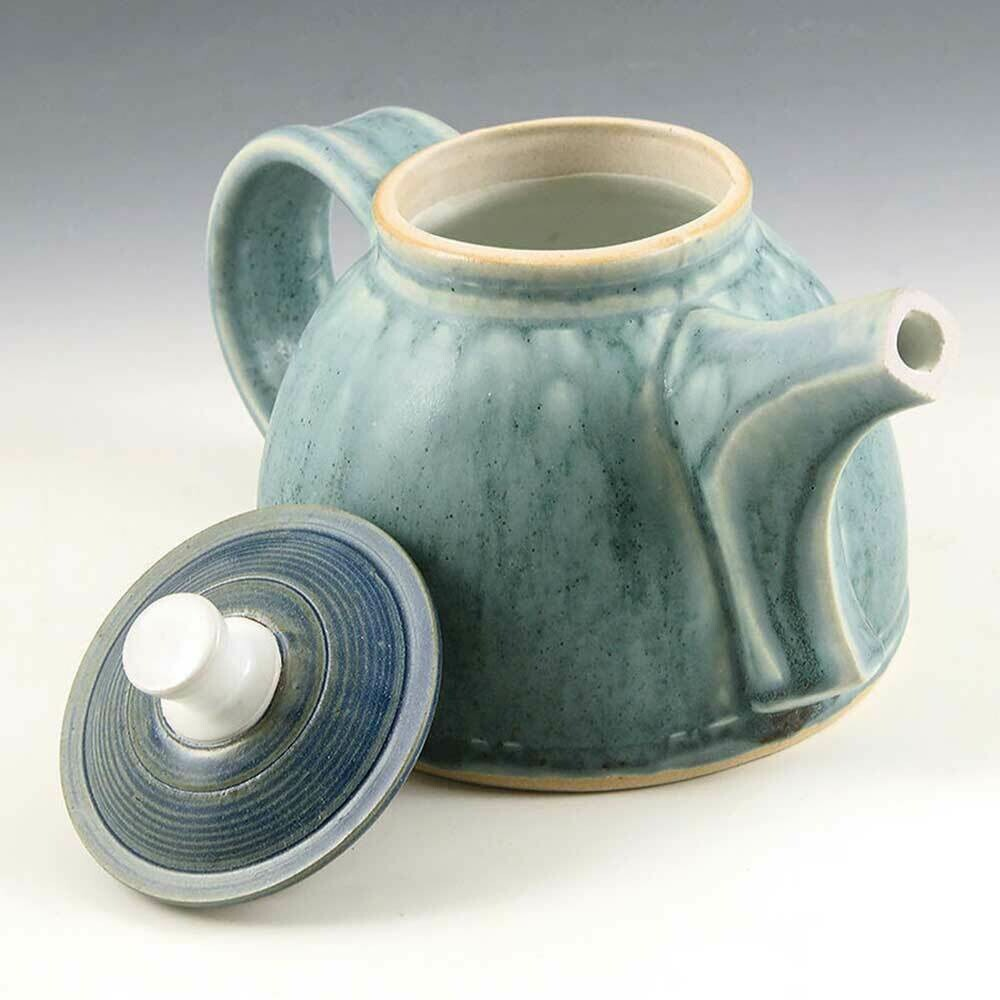 Tea Pot - Cascading Robins Egg Blue - 3 Cups