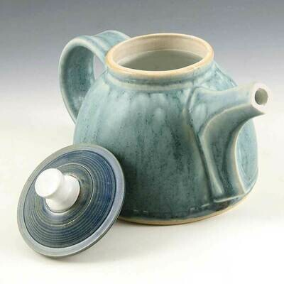 Tea Pot - Cascading Robins Egg Blue - 3 Cups