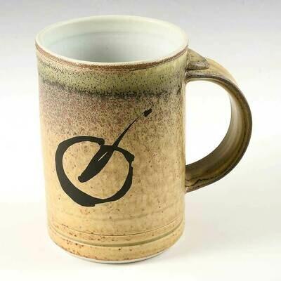 Mug - Rustic Wheat - Porcelain mug set. Fired in Calligraphy stroke. Price each.