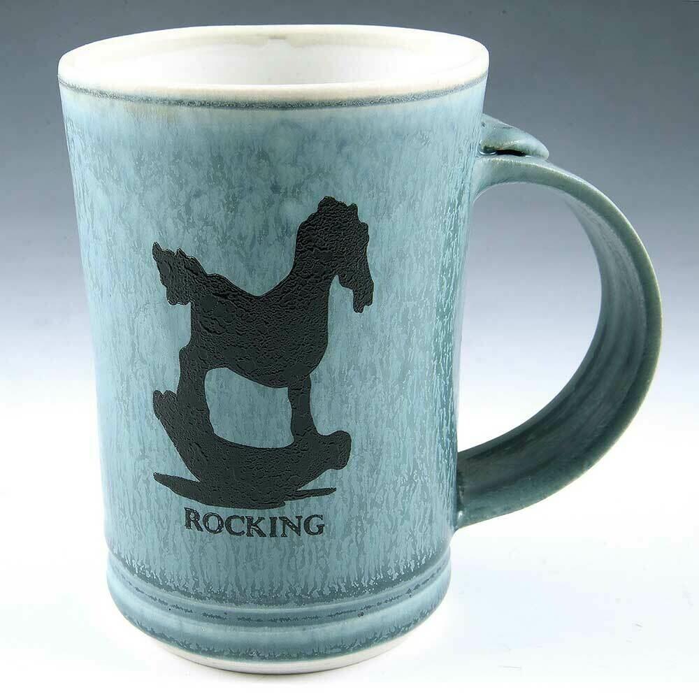 Mug - Rocking Horse Demi-size Mugs. Porcelian. Buy one or two