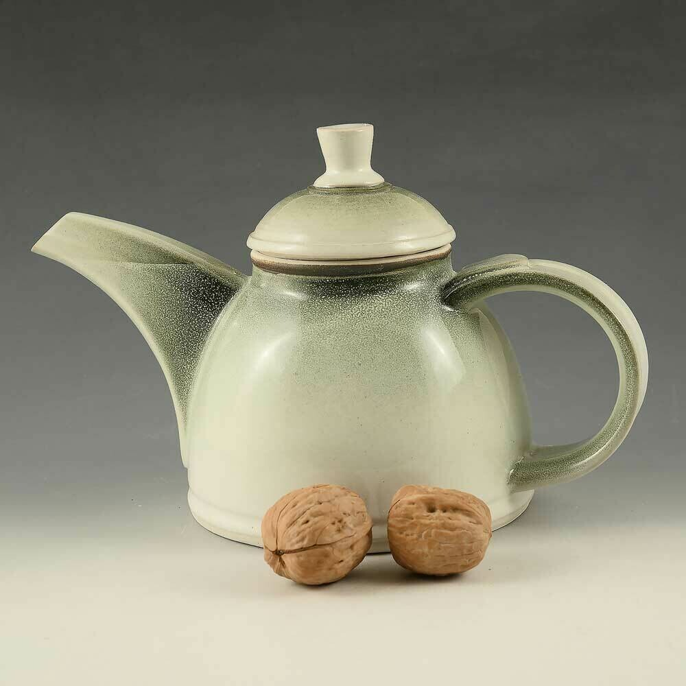 Tea Pot - Mist-Green Porcelain - 2.5 cups.