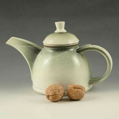 Tea Pot - Mist-Green Porcelain - 2.5 cups.