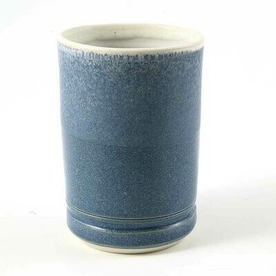 Cup - Half N Half Blue, Porcelain perfect for hot or cold drinks.