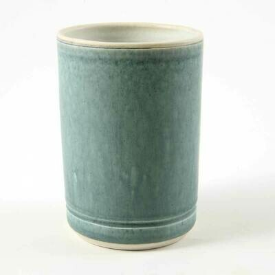 Cup - Cascading Turquoise, Porcelain perfect for hot or cold drinks.