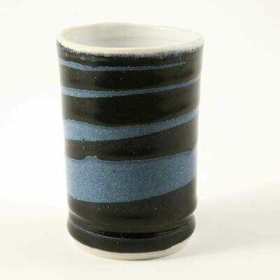 Cup - Demi-size a little smaller than regular cup size. Blue Spiral Theme. Porcelain. Coffee or Juice!