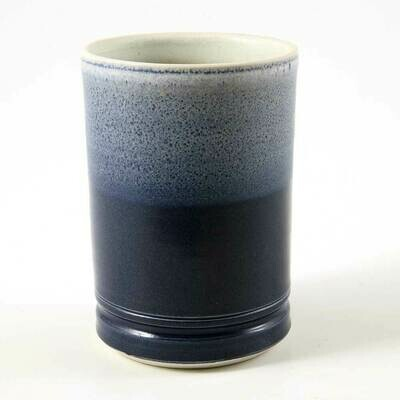 Cup - Rich Deep Blue and Speckled light Blue, Porcelain perfect for hot or cold drinks.