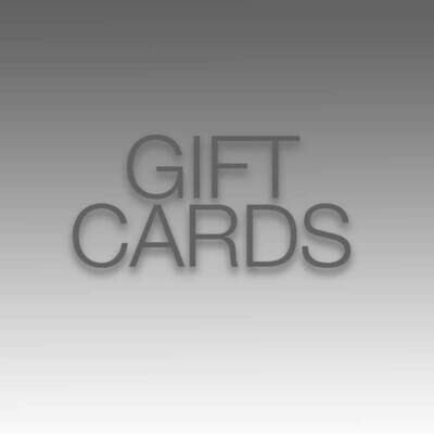 Gift cards From $25 - $200 Great Last Minute Giving!