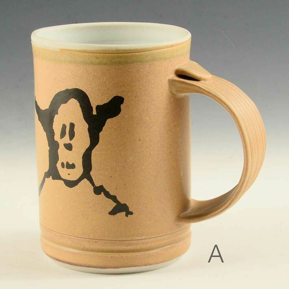 Mug - Pirate Graphic -  Gold Colors  -   Porcelain