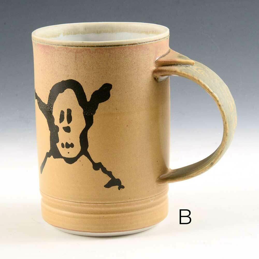 Mug - Pirate Graphic -  Gold Colors  -   Porcelain