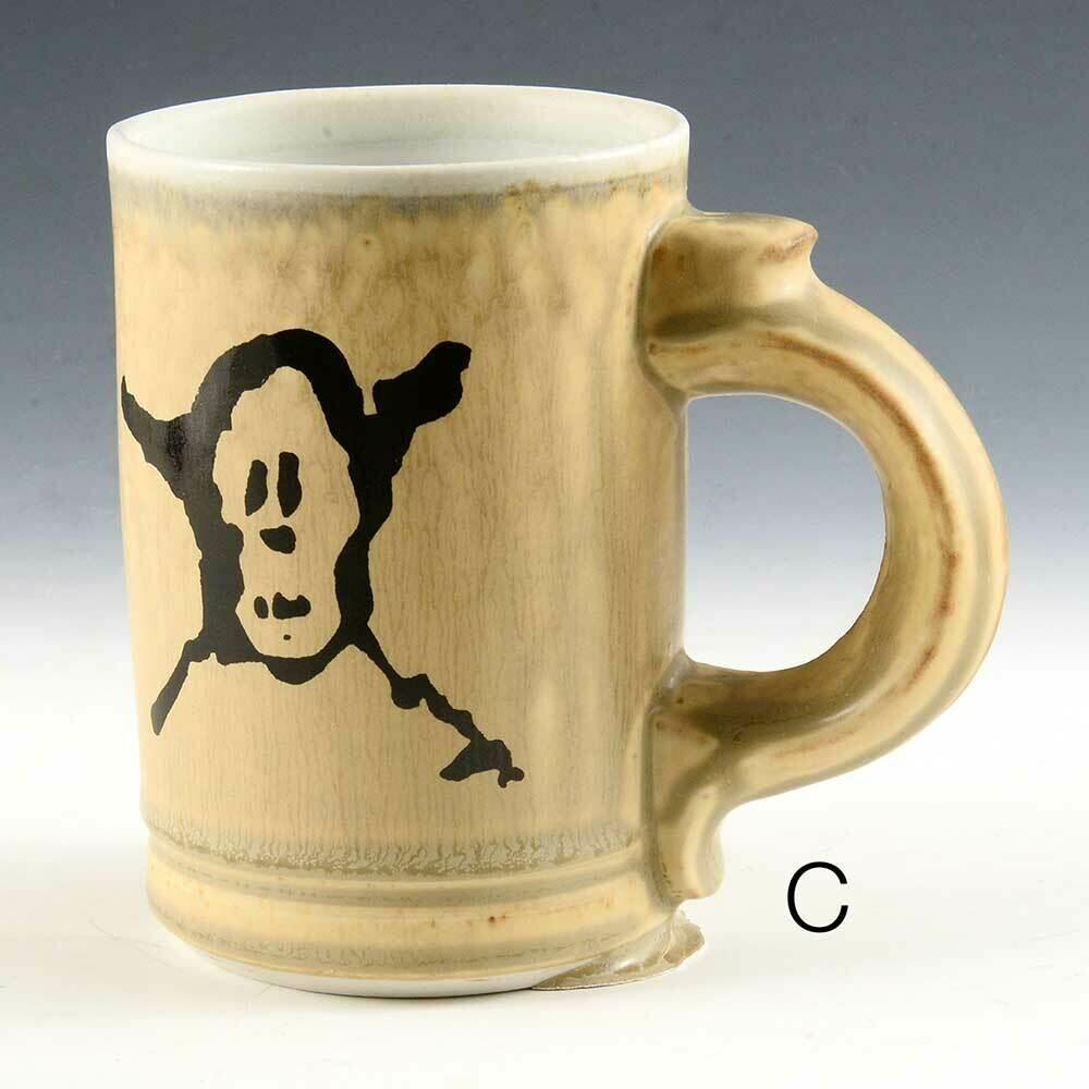 Mug - Pirate Graphic -  Cascading Gold Colors  -   Porcelain