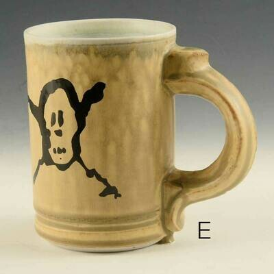 Mug - Pirate Graphic -  Cascading Gold Colors  -   Porcelain