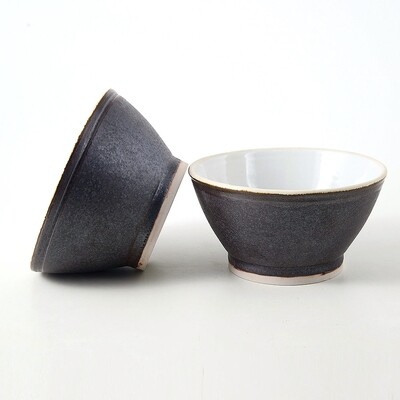 Bowls - 2 Piece set Dark Wood Texture