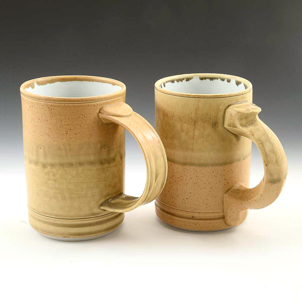 Mug - Beautiful, Sunny Gold two tone Designer Colors in Hand Made Porcelain