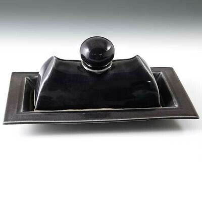 Butter Dish - Deep Purple. Holds 1-1/2 sticks of butter!