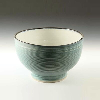 Medium Sized Mixing bowl. Porcelain Thrown on the potters wheel.