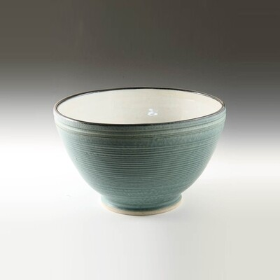 Bowl - Smaller Size Mixing bowl. Porcelain Thrown on the potters wheel.