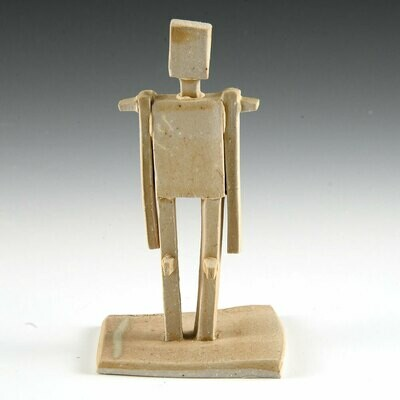 Standing Figure. One of a kind little sculpture. Unglazed stoneware. 4