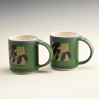Mug - BrushStroke Green Shorties (Set of two)