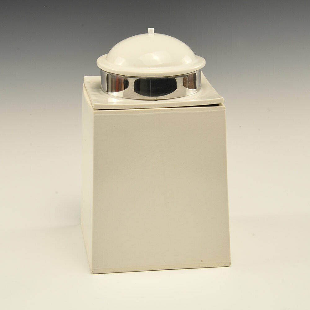 Canisters White Porcelain stainless steel band
