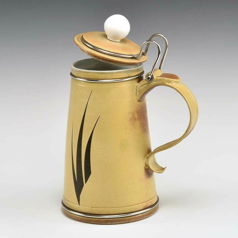 Beer Stein with Polished Stainless Steel hinge and detailing for the Beer Stein Collector
