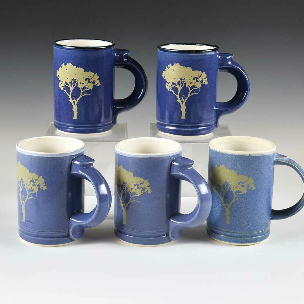 Tree Mugs with Beautiful Blue colors. Porcelain with our custom-designed