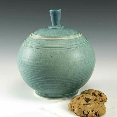 Cookie Jar - Robins Egg Blue. A beautiful storage Jar for your counter top.