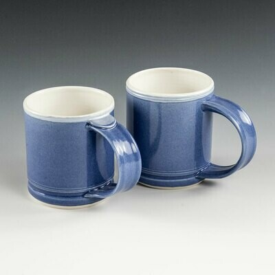 Mugs - Rich, Deep Blue Shorty-Style mugs with beautiful depth.
