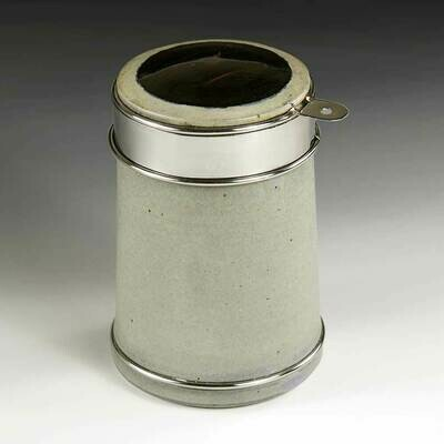 Spice Jar with Polished Stainless steel, forged detailing - Great Accent Piece