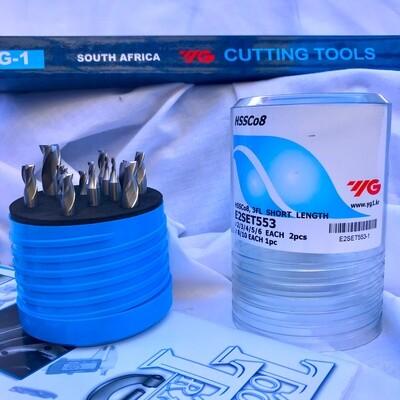 SPECIAL!! HSSCo8(M42) 3FL E/M SET 2,3,4,5,6,8,10mm