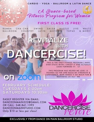 Dancercise-REVIVE Fitness Drop-In (on Zoom)