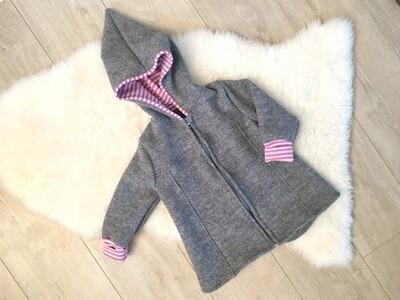 Grau rosa Streifen