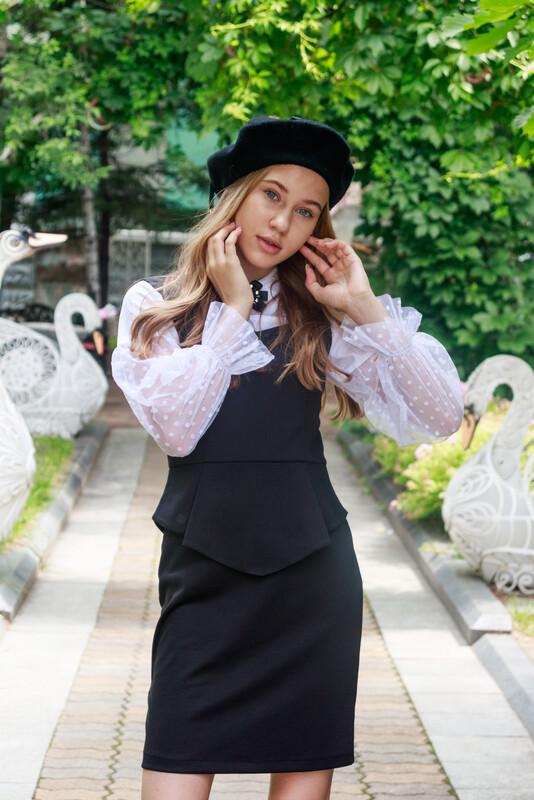 Платье детское черный 2С3-1