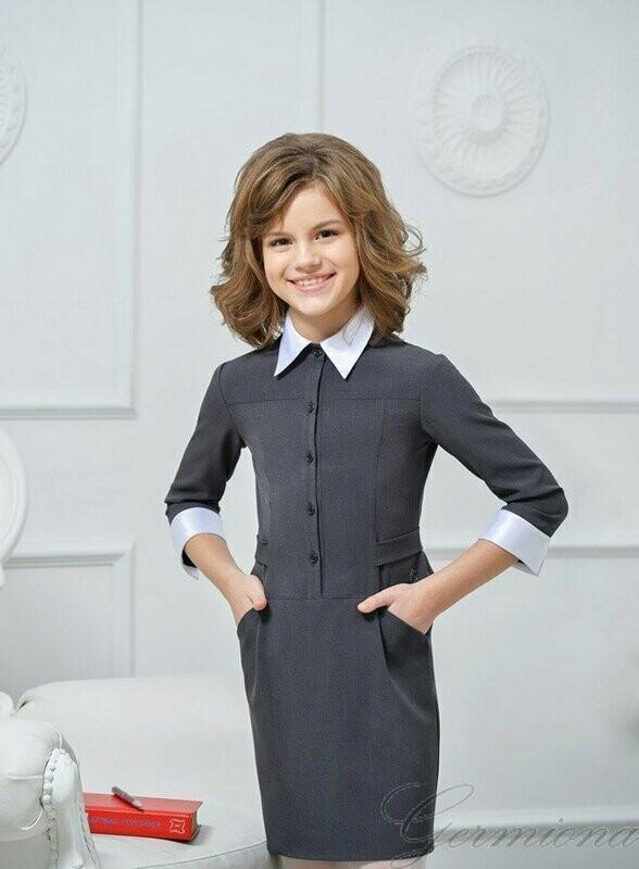 Платье школьное серый 5053-02 П