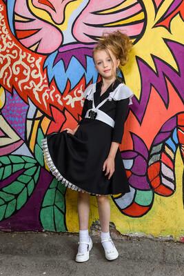 Платье детское черный 2С13-1
