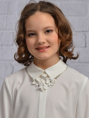 Блузочный галстук-брошь молоко 216
