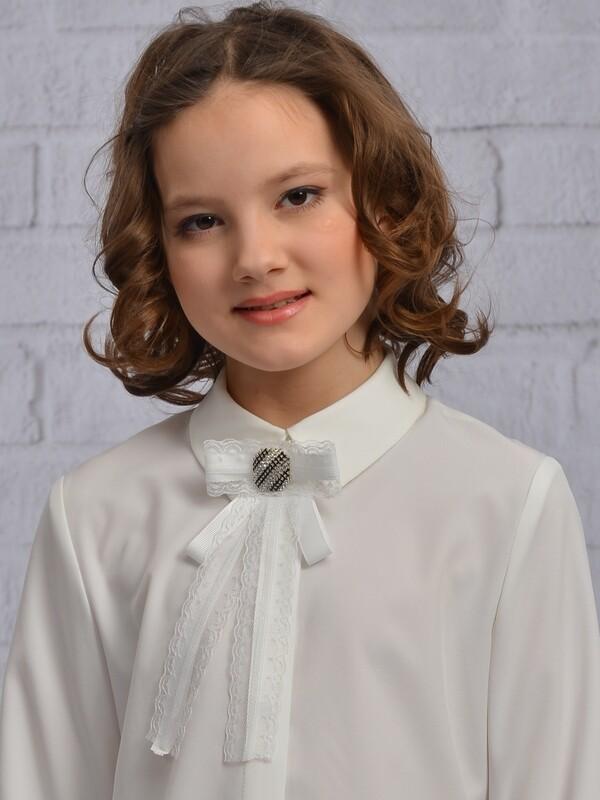 Блузочный галстук-брошь 206