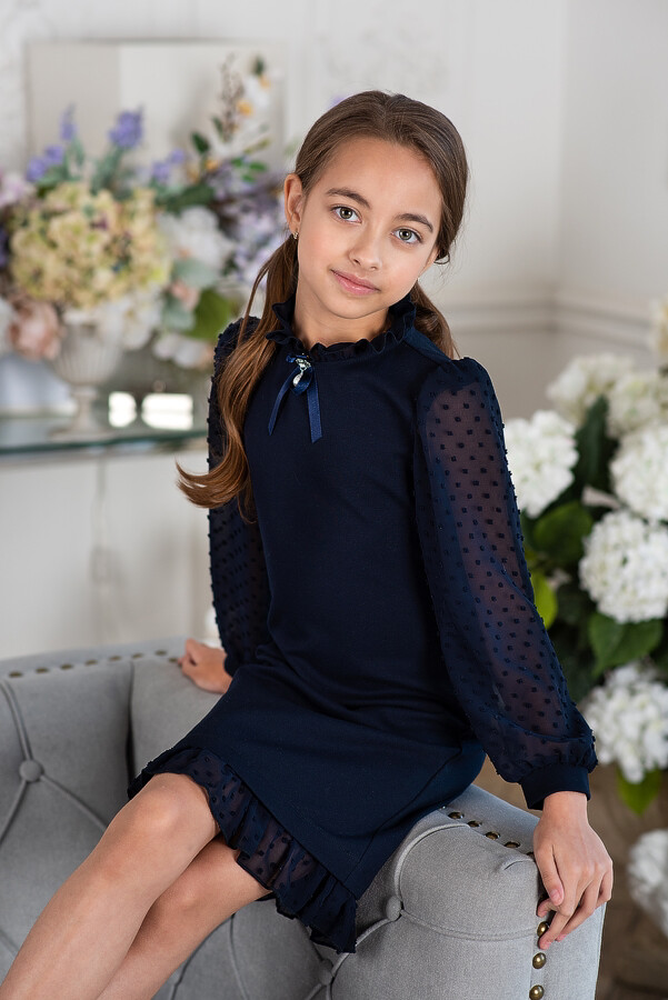 Платье д/д синий 5049-160