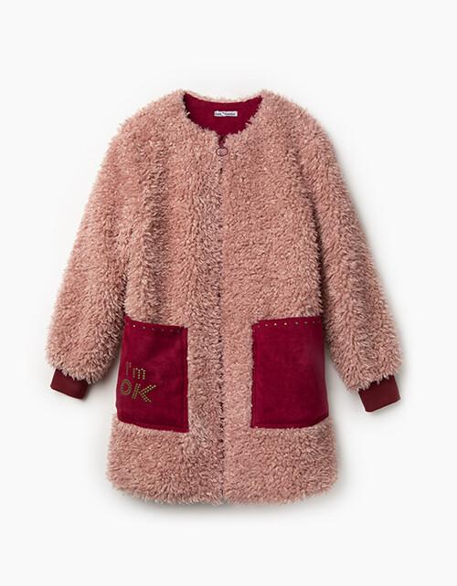 Пальто розовый 203037