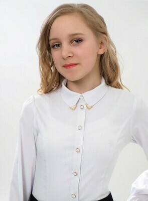 Блузка детская белый 2В38-1