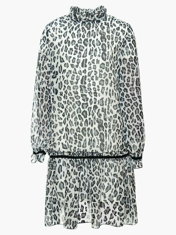 Платье леопард серый 204213519-93