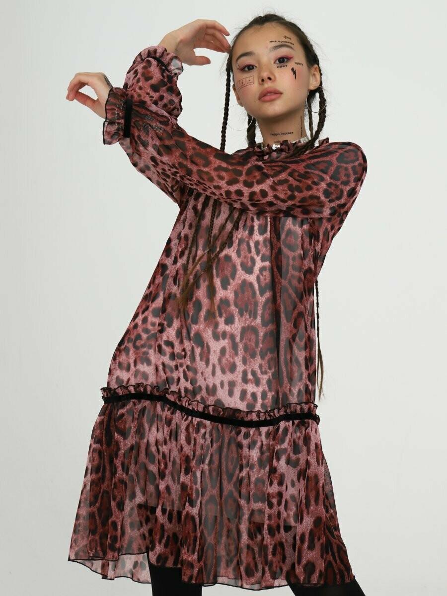 Платье леопард 204213519-92