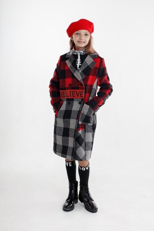 Пальто крас-сер клетка Beliv-C