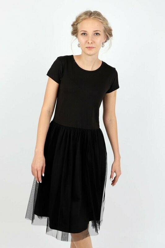 Платье д/д черный 9238