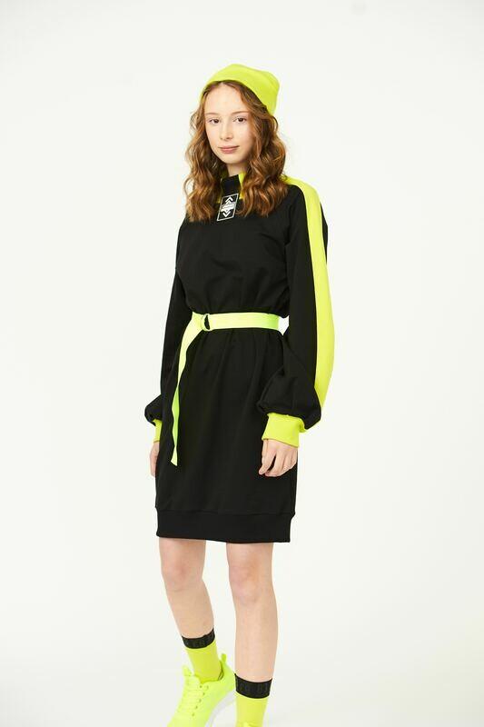 Платье черный/лимон 2010907