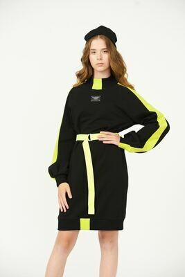 Платье черный-лимон 2010908