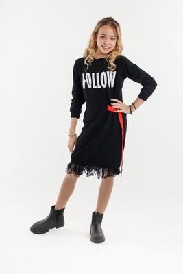 Платье д/д черный 9182