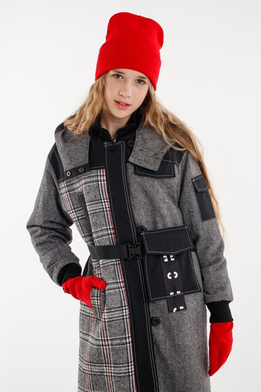 Пальто серый Jodie