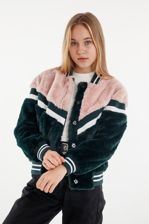 Куртка розово-зеленый 768230