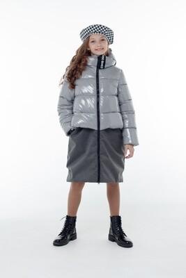 Пальто Орнелла серый/т.серый OB40993-02-с